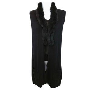 Joie - Fur Cardigan - Black